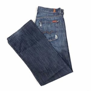 7 For All Mankind Distressed Relaxed Denim Jeans